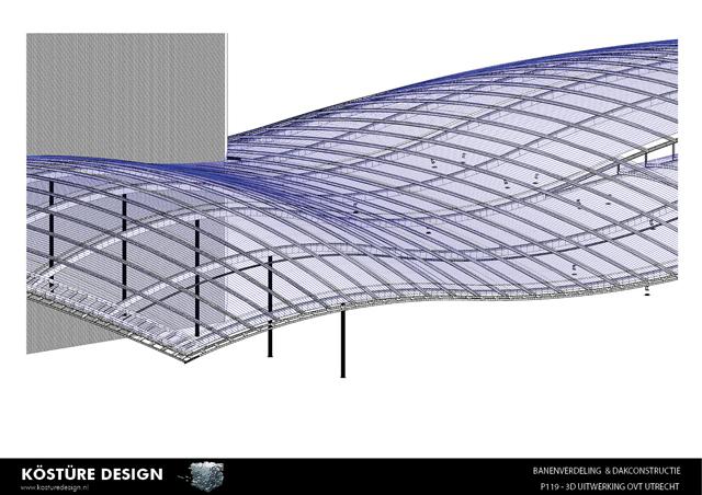 Dak bekleed met aluminium felsbanen
