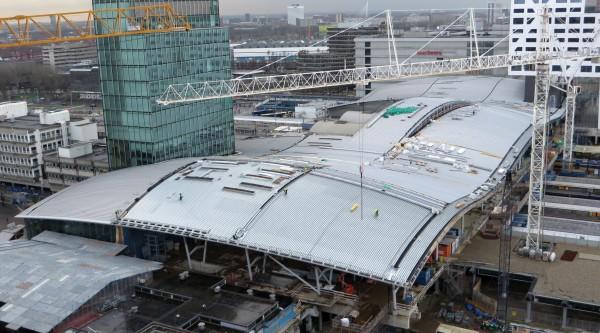 Nieuwbouw Utrecht Centraal Station 3d uitwerking dak