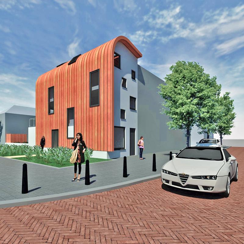 Zelfbouw woning Jacob Catsstraat architect