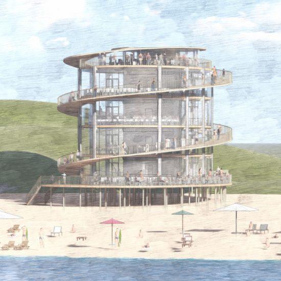 Strandpaviljoen van de toekomst