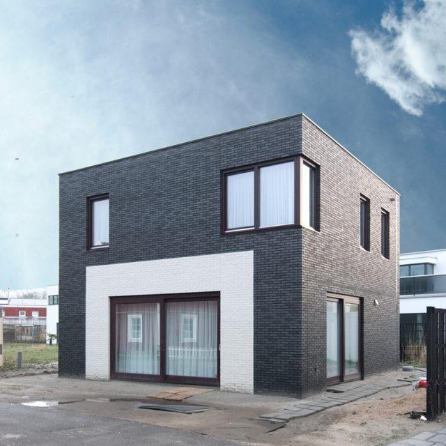 Zelfbouw Erasmushove Den-Haag - De voorgevel