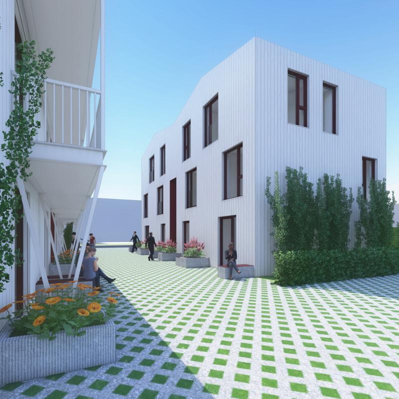 De woningen zijn circulair ontworpen en gebouwd